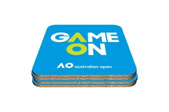 Australian Open Tennis Cork Drink Coasters set of 4
