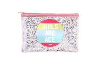 Australian Open Tennis Melbourne 2020 Pencil Case Girls are Ace Zip Glitter