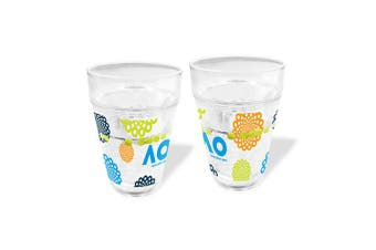 Australian Open Tennis Tumbler with Floating Balls Clear