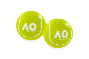 Australian Open Tennis Ball Ceramic Salt and Pepper Shakers