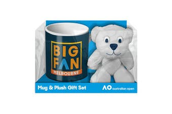 Australian Open Tennis Coffee Mug Cup & Teddy Bear