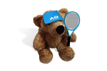 Australian Open Tennis Plush Teddy Bear With Visor & Racket