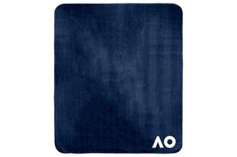 Australian Open Tennis Melbourne Polar Fleece Throw Rug Blanket Navy