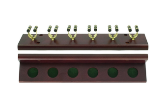 Pool Snooker Billiard Cue Rack Jarrah Holds 6 Sticks