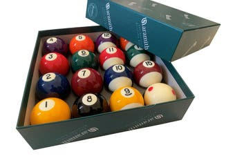 POOL BALLS Aramith Premier 2 inch WITH 1 & 7/8 inch MEASLE WHITE BALL