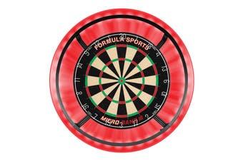 Formula Micro Band 3 Dart Board + RED Dartboard Surround + Target Corona Light + Darts
