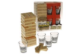 BAR DRUNKEN TOWER Janga Shot Glasses Drinking Party Board Game
