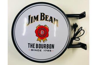 Jim Beam Bourbon Beer Bar Lighting Wall Sign Light LED