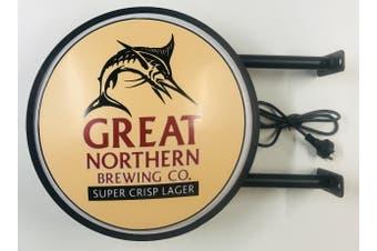 Great Northern SUPER CRISP LARGER Beer Bar Lighting Wall Sign Light LED