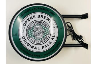 Coopers Brewery Beer Bar Lighting Wall Sign Light LED