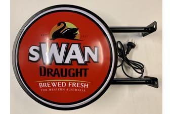 Swan Draught Beer Bar Lighting Wall Sign Light LED