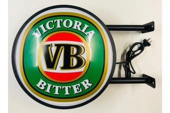 VB Victoria Bitter Beer Bar Lighting Wall Sign Light LED