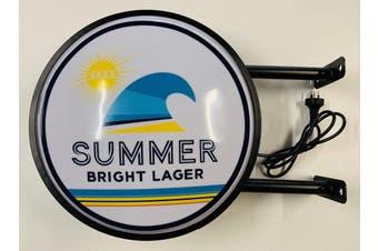 XXXX Summer Bright Lager Beer Bar Lighting Wall Sign Light LED