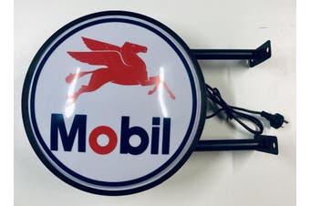 MOBIL FUEL OIL Bar Lighting Wall Sign Light LED