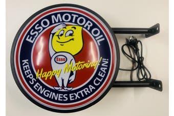 ESSO Motor Oil Bar Lighting Wall Sign Light LED