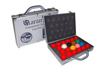 "Aramith SuperPro1G Pro Tournament Snooker Balls 2 & 1/16"" inch"