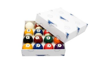 """MITCHELL Kelly Pool Billiard Balls 2"""" inch Numbered White Cue Ball"""