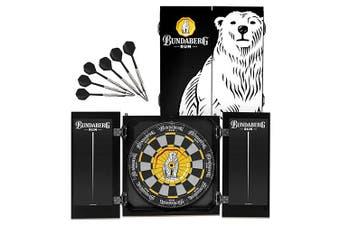 Bundy Bear Rum Bundaberg COLLECTORS Sisal Dart Board and Cabinet SET