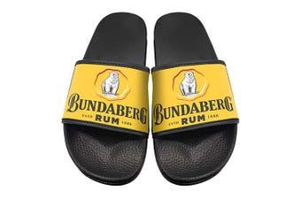 Bundaberg Rum Bundy Yellow Scuffs Slides Sandles Thongs Flip Flops - Medium