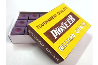 Box of Pioneer Pool Snooker Billiard Table Cue Chalk Burgundy/Mauve