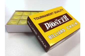 Box of Pioneer Pool Snooker Billiard Table Cue Chalk Gold