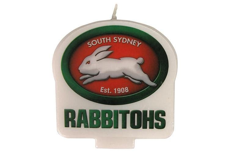 Dick Smith South Sydney Rabbitohs Nrl Team Logo Birthday Candle Sports Collectables