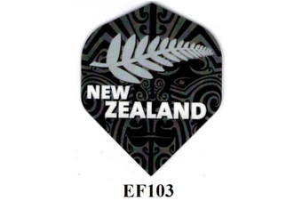ELKADART Dart Flights Set of 3 New Zealand Silver Fern