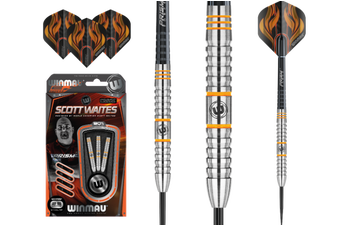 WINMAU Scott Waits Prism Steel Tip 90% Tungsten Darts 25 Gram