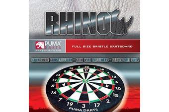 "Puma Darts 18"" Full Size Rhino Bristle Dartboard Staple Free Bullseye"