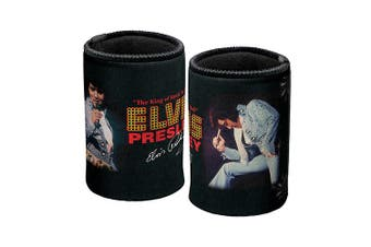 Elvis Presley King of Rock Can Cooler Stubby Holder