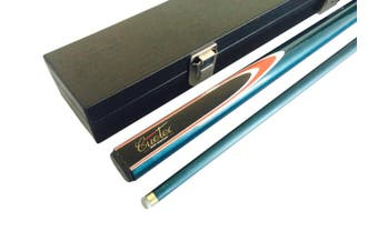 CUETEC FIBREGLASS WOOD Blue Pool Snooker Billiard Cue and Case