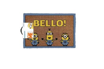 Despicable Me Minions Minion Bello! Welcome Man Cave Door Mat