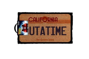 Back To The Future Outatime Welcome Man Cave Door Mat