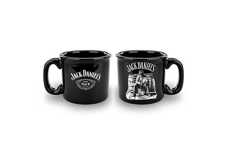 Jack Daniels Old No.7 Campfire Ceramic Glazed Camping Coffee Mug Cup