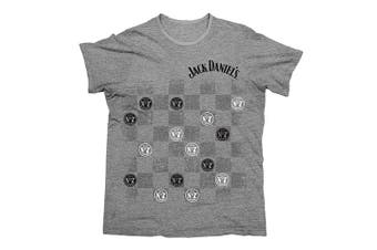 Jack Daniels Men's CHECKERS TEE T SHIRT - X Large