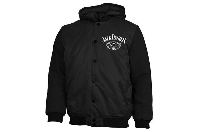 Jack Daniels Jacket Jumper Coat Hoodie Embroidered Quilted lined - S/M