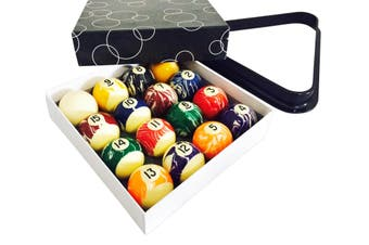Kelly Pool Marble Marbleised Pool Snooker Billiard Balls 2 Inch and Triangle