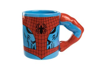 Marvel SPIDERMAN Ceramic Coffee Mug Cup with Moulded Muscled Arm as Handle