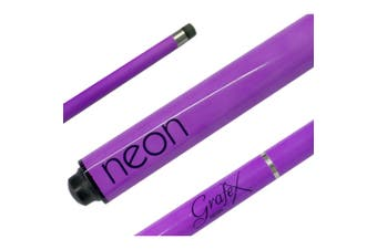 GRAFEX Pool Snooker Billiard Cue NEON PURPLE Graphite multi-weight system