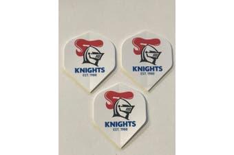 NRL Newcastle Knights White Dart Board Dart Flights