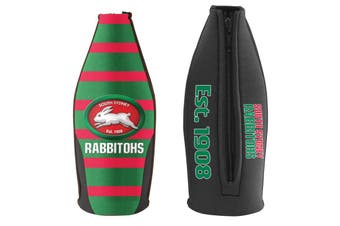 South Sydney Rabbitohs TALLIE LONG NECK Beer Wine Bottle Zip Cooler (includes Carry Strap)