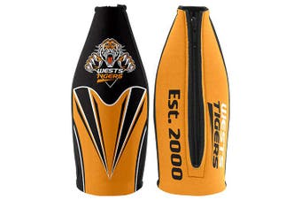 Wests Tigers TALLIE LONG NECK Beer Wine Bottle Zip Cooler (includes Carry Strap)