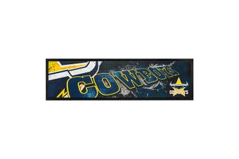 Licensed NRL NORTH QLD COWBOYS Bar Mat Runner