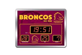 Brisbane Broncos NRL SCOREBOARD LED Clock