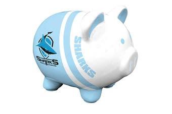 Cronulla Sharks NRL Dolomite Piggy Bank Money Box with Coin Slot