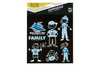 NRL Cronulla Sharks FAMILY Car Sticker Sheet
