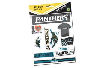 Penrith Panthers NRL LOGO Sticker Sheet for Car Bumper School Books etc