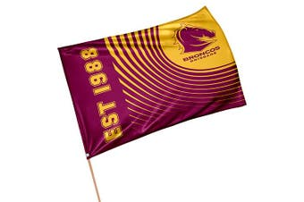 Brisbane Broncos NRL GAME DAY Pole Flag Banner