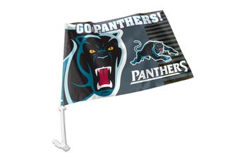 Penrith Panthers NRL Clip on Window CAR Flag includes Pole