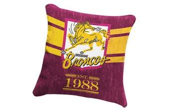 Brisbane Broncos NRL HERITAGE Cushion fabric Pillow